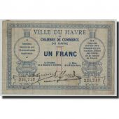 France, Le Havre, 1 Franc, Undated (1914), TB, Pirot:68-4
