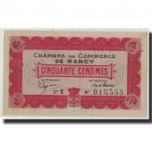 France, Nancy, 50 Centimes, 1915, AU(50-53), Pirot:87-1