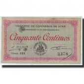 France, Lure, 50 Centimes, 1915, TB, Pirot:76-1