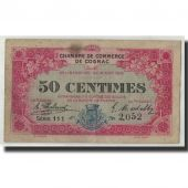 Pirot:49-3, 50 Centimes, 1916, France, VF(30-35), Cognac