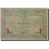 France, Boulogne-sur-Mer, 1 Franc, 1914, B+, Pirot:31-15