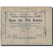 Pirot:02-2232, 1 Franc, 1914, France, F(12-15), Tergnier, Fargniers, Quessy et