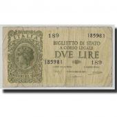 Banknote, Italy, 2 Lire, 1944, 1944-11-23, KM:30b, VG(8-10)