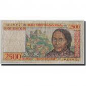 Banknote, Madagascar, 2500 Francs = 500 Ariary, Undated (1998), KM:81, F(12-15)