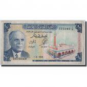 Billet, Tunisie, 1/2 Dinar, 1965, 1965-06-01, KM:62a, TB