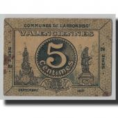 France, Valenciennes, 5 Centimes, 1914, TB, Pirot:59-2538