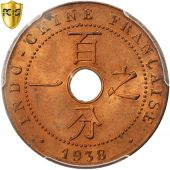 Indochine, 1 Cent, 1938 A, PCGS MS64RD
