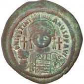 Justinien Ier, Follis, An 13, Constantinople, 4ème officine, Sear 163