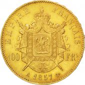 Second Empire, 100 Francs or Napoléon III tête nue, 1857 A, Paris, Gadoury 1135