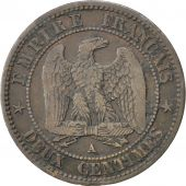Second Empire, 2 Centimes Napoléon III tête nue, 1853 A, Paris, Gadoury 103