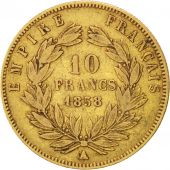 Second Empire, 10 Francs or Napol�on III t�te nue, 1858 A, Paris, Gadoury 1014