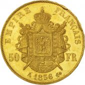 Second Empire, 50 Francs or Napoléon III tête nue, 1856 A, Paris, Gadoury 1111