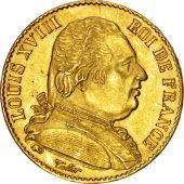 Louis XVIII, 20 Francs or buste habill�, 1814 A, Paris, Gadoury 1026