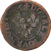 Louis XIII, Double Tournois, 1626 O, Riom, CGKL 426