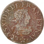 Louis XIII, Double Tournois, 1638, Troyes ou Chappes, CGKL 504