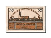 Germany, Nördlingen, 50 Pfg, village, marron 2, 1918-10-02, UNC(65-70), Mehl:978