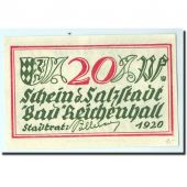 Germany, Bad Reichenhall, 20 Pfennig, paysan, 1920, UNC(65-70)