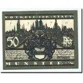 Allemagne, Munster, 50 Pfennig, cathedrale 3, 1921, 1921-08-01, NEUF, Mehl:916.1