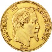Second Empire, 100 Francs or Napoléon III tête laurée, 1866 BB, Strasbourg, Gadoury 1136
