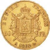 Second Empire, 50 Francs or Napoléon III tête laurée, 1862 A, Paris, Gadoury 1112