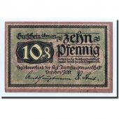 Germany, Dresden, 10 Pfennig, graphique, 1918, 1918-12-31, UNC(63)