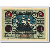 Billet, Allemagne, Stettin Stadt, 75 Pfennig, bateau, 1921, 1921-07-01, SPL