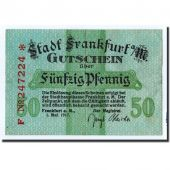 Banknote, Germany, Frankfurt am Main Stadt, 50 Pfennig, Ecusson, 1917