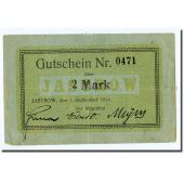 Billet, Allemagne, Jastrow, 2 Mark, graphique, 1914, 1914-09-01, SPL