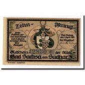 Banknote, Germany, Sachsa, 10 Pfennig, manoir, 1921, 1921-04-01, UNC(63)