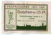 Billet, Allemagne, Cottbus, 25 Pfennig, paysage, 1921, 1921-11-05, SPL