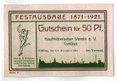 Billet, Allemagne, Cottbus, 50 Pfennig, paysage, 1921, 1921-11-05, SPL