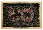 Banknote, Germany, Sonneberg, 50 Pfennig, personnage 5, 1921, 1921-07-01