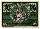 Banknote, Germany, Alfred, 50 Pfennig, Monument, 1921, 1921-07-01, UNC(63)