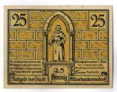 Billet, Allemagne, Münnerstadt, 25 Pfennig, personnage, 1921, 1921-09-01, SPL