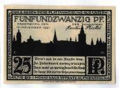 Billet, Allemagne, Paderborn, 25 Pfennig, paysage, 1921, 1921-11-10, SPL