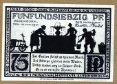 Billet, Allemagne, Paderborn, 75 Pfennig, ruelle, 1921, 1921-11-10, SPL