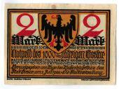 Banknote, Germany, Goslar Stadt, 2 Mark, personnage 3, 1922, 1922-07-02