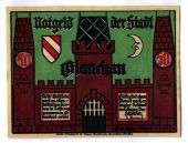 Billet, Allemagne, Glauchau Stadt, 50 Pfennig, personnage 4, 1921, 1921-05-01