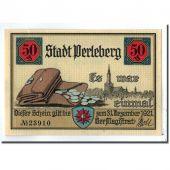 Billet, Allemagne, Perleberg, 50 Pfennig, paysage, 1921, SPL, Mehl:1056.1