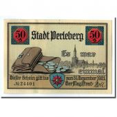 Banknote, Germany, Perleberg, 50 Pfennig, place, 1921, UNC(63), Mehl:1056.1
