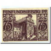 Billet, Allemagne, Paderborn, 75 Pfennig, Monument, 1921, 1921-11-10, SPL