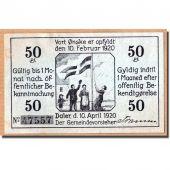 Billet, Allemagne, Daler Gemeinde, 50 Pfennig, moulin, 1920, 1920-04-10, SPL