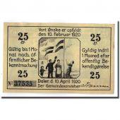 Billet, Allemagne, Daler Gemeinde, 25 Pfennig, moulin, 1920, 1920-04-10, SPL