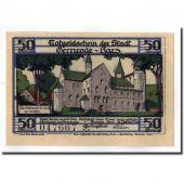 Banknote, Germany, Gernrode a. H., 50 Pfennig, chateau 1, 1921, 1921-10-21