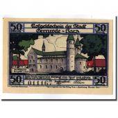 Billet, Allemagne, Gernrode a. H., 50 Pfennig, chateau 5, 1921, 1921-10-21, SPL