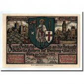 Billet, Allemagne, Eisenach Stadt, 50 Pfennig, personnage, 1921, SPL