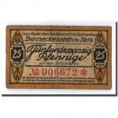 Banknote, Germany, Benneckenstein, 25 Pfennig, paysage, 1921, UNC(63), Mehl:73.1
