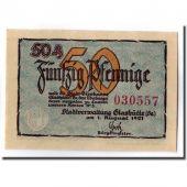 Billet, Allemagne, Glashutte, 50 Pfennig, manoir, 1921, SPL, Mehl:430.1