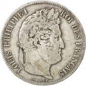 Louis-Philippe I, 5 Francs t�te laur�e, 1837 B, Rouen, Gadoury 678