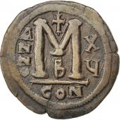 Justinien Ier, Follis, An 15, Constantinople, 2ème officine, Sear 163